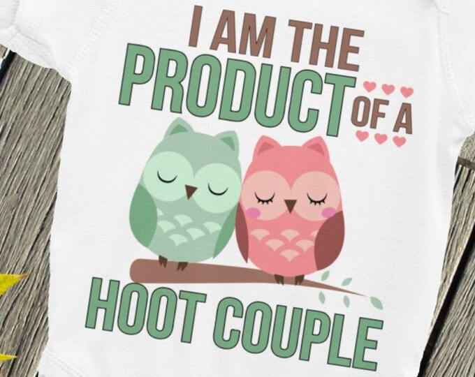 Owl Baby Onepiece, I'm the Product of a Hoot Couple Nappy, Owl baby clothes, owl bodysuit, baby owl Bodysuit, night owl snapsuit, owl baby