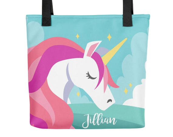 CUSTOM Unicorn Personalized Tote bag | Personalized Tote Bag | Gift for Her  | Personalised Tote Bag | Bridesmaid Tote Bag | Custom Tote