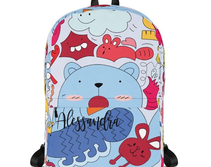Backpack for school - Kids Backpack - personalize backpack - custom school bag - monogrammed backpack - children backpack, monogram backpack