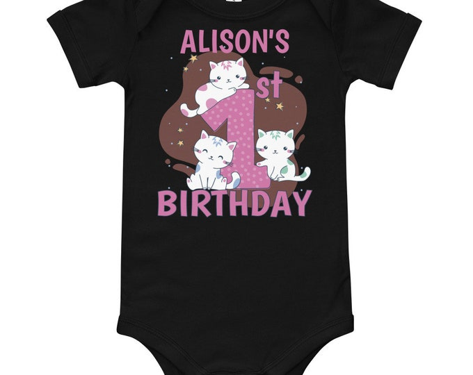 Custom First Birthday T-Shirt | Birthday Baby Bodysuit | 1st First Birthday Custom Cotton | First Birthday Shirt 1st Birthday Outfit Persona