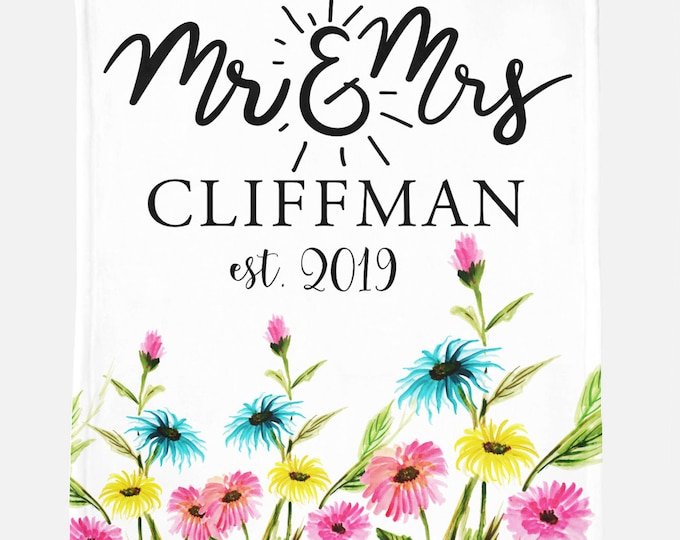 Mr and Mrs Custom Blanket,Personalized Mr. & Mrs. Blanket, Custom Wedding Gift,Engagement Gift, Custom Blanket, Sherpa Blanket, Minky