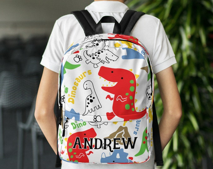 Back to school Dinosaur  Custom gift - Personalize backpack - customized backpack - backpack with name - custom school bag - unique backpack