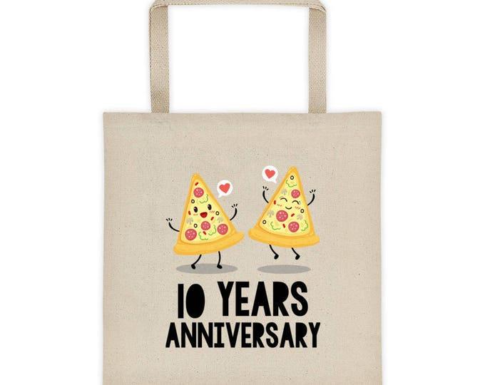 10th Anniversary Tote bag, 10th Wedding Anniversary Gift Idea, Funny Wedding Anniversary Tote bag, Tenth Anniversary, 10 Years Anniversary