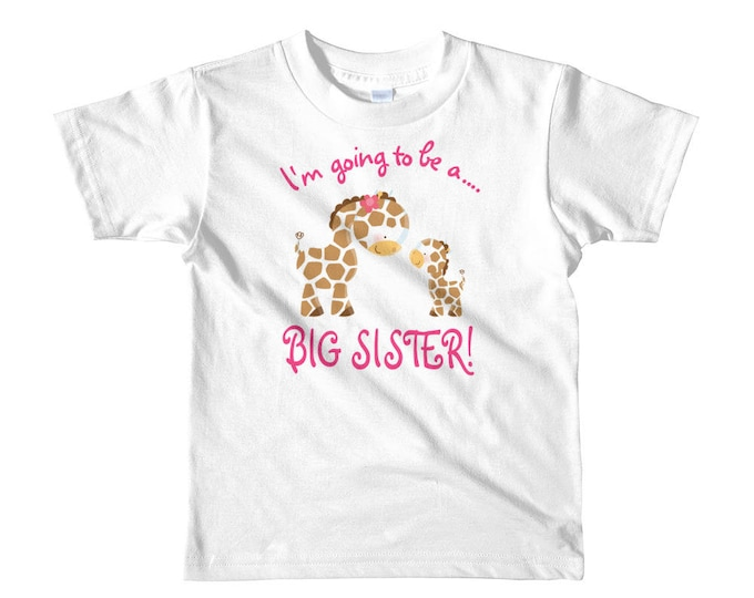 big sister shirt, I'm Going to be a Big Sister, Cute Giraffes Big Sister, big sister, big sister gift, sister announcement, big sister to be