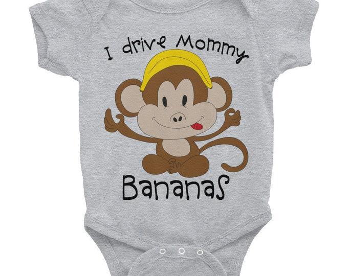 Cute Baby Bodysuit, Funny Nappy, Cute Animals Nappy,  Monkey Onsie, Funny Baby Onsies, Monkey Shirt, Little Monkey Onsie, Cute Onsie