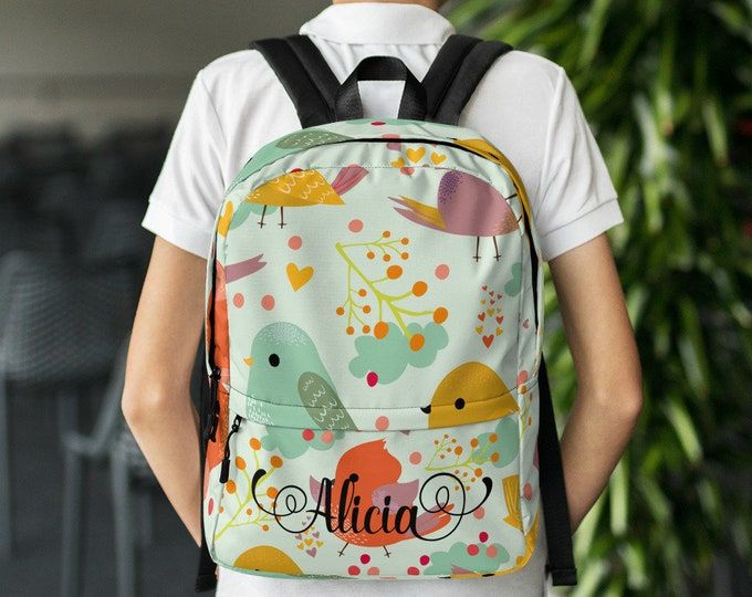 Back to school Custom gift - Personalize backpack - customized backpack - backpack with name - custom school bag - unique backpack