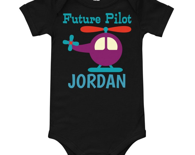 Future Pilot Personalized Bodysuit | airplane baby shower | air force baby | baby shower favor | baby shower favor | baby boy shower gift