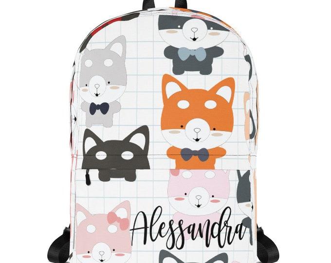 Custom school bag - Kids Backpack - personalize backpack - backpack for school - monogrammed backpack - children backpack, monogram backpack