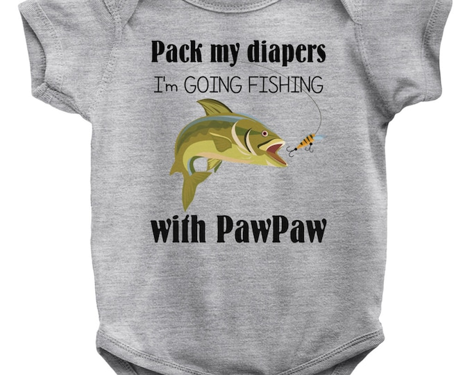 Going  Fishing With Pawpaw Baby Bodysuit