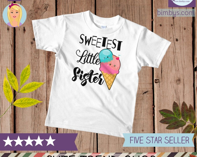 SALELittle sister kids t-shirt , Kawaii Food Little Sister T-Shirt, Little Sister Tee, Siblings Shirt, little sister outfit, little sis