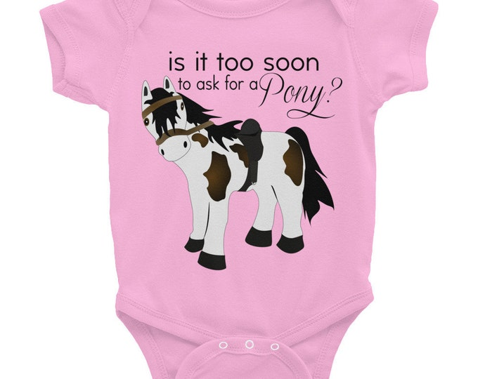 Cowgirl  or Cowgirl Baby Bodysuit - Is it too soon to ask for a pony? Infant Bodysuit, cowgirl outfit, cowgirl shirt, cowgirl tshirt cowgirl