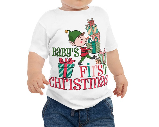 Baby's First Christmas Shirt - baby's 1st christmas - 1st christmas - baby christmas gift - first christmas gift