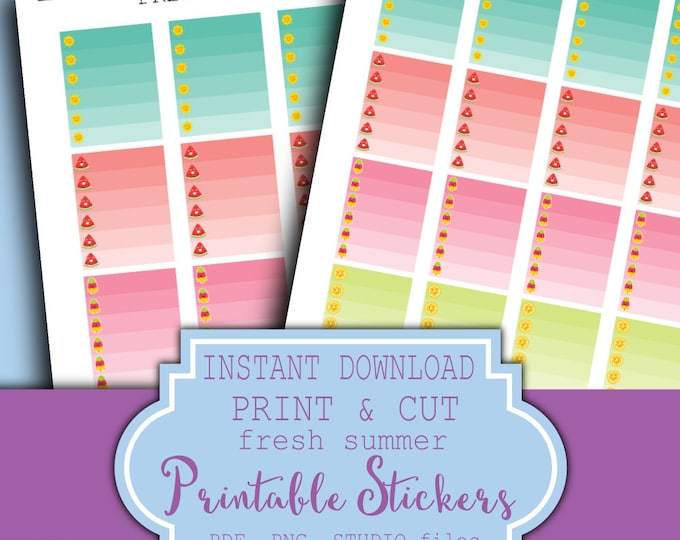 ON SALE Planner Sticker Printable Summer Planner Stickers