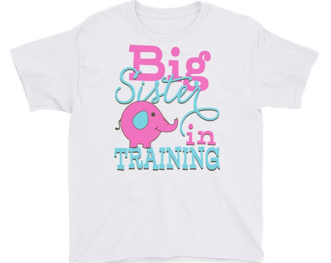 Big Sister In Training Tee Shirt, Pregnancy Announcement, Girls Sibling Big Sister, Big Sister Shirt, Big Sister In Training Shirt, Big Sist