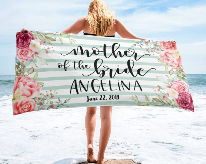 Mother of the Bride Beach Towel, Mother of the Bride Gift, Mother of the Bride or Mother of the Groom, Mother of the Bride Beach Towels, Mot