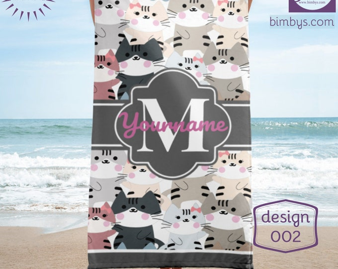Beach TowelBeach Towels Personalized, Custom Beach Towel, Monogrammed Beach Towel, Embroidered Beach Towel, Beach Towel Monogram