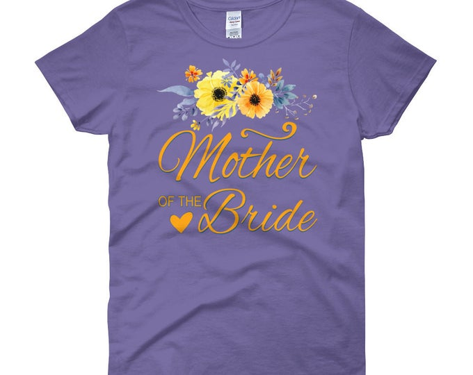 Mother-of-the-Bride Shirt, Women's short sleeve t-shirt, Mother of the Bride T-Shirt Top, Mother of the Groom T-Shirt Top, BrideTee