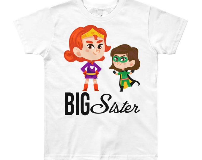 SALE Superhero Big Sister Design T-Shirt