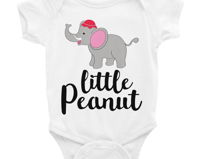 SALE!ON SALE!Little Peanut Newborn Bodysuit - One Piece Layette Infant Bodysuit,  Elephant Baby Romper, Little Peanut Baby Creeper
