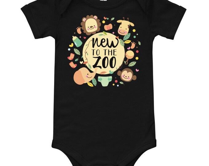 New to the ZOO - Safari Animals Baby Bodysuits - jungle baby shower - zoo baby shower - zoo animals