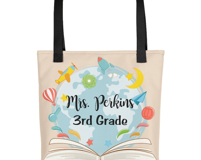 Custon Name Teacher's Tote bag | unique teacher gift | custom tote  personalized gift |  personalized tote , personalized bag, Teacher Gifts