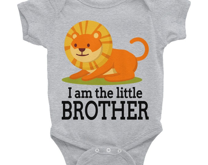 Little brother Bodysuit  - LION I Am the Little Brother, Jungle Baby Shower, Safari Baby Shower, Lions Baby, Baby Brother, Brother design