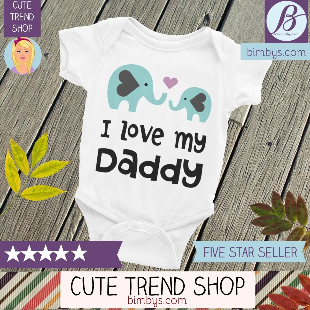253876801 I Love My Daddy Baby Bodysuit - Baby Nappy