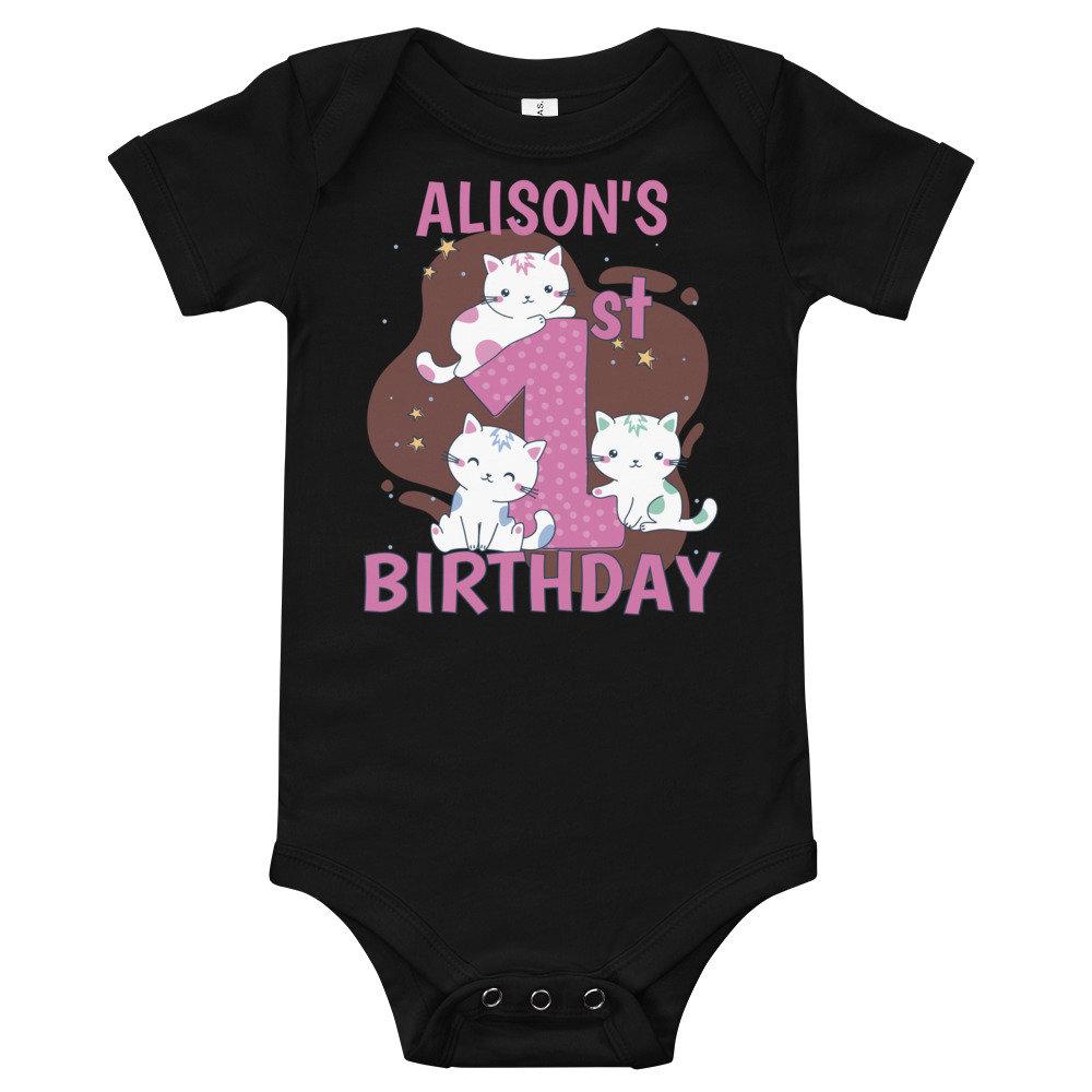 Custom First Birthday T Shirt