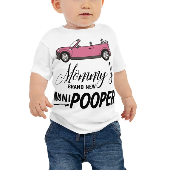 Funny Baby Clothes, Baby Shower Gift, Infant Toddler Baby T-Shirt - Mommy's Brand New Mini Pooper Jersey Short Sleeve Tee, Funny Baby Shirts