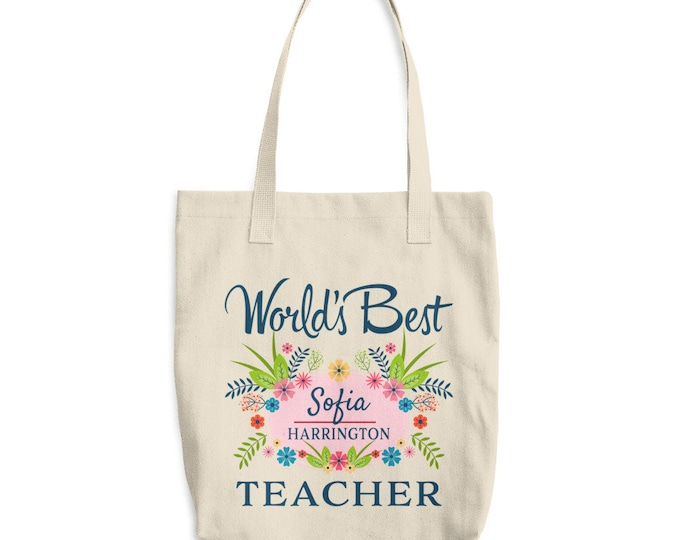 Teacher Tote Bag, Teacher Gift, Teacher Tote, custom tote, custom tote bag, gift for teacher, Teacher Appreciation, personalized gift