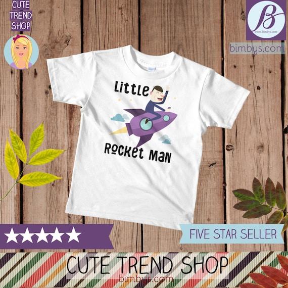 SALEFunny kids t-shirt, funny kids shirt, Little Rocket Man Kids T-Shirt, toddler shirt, kids shirt, funny kid shirt, funny kids shirts