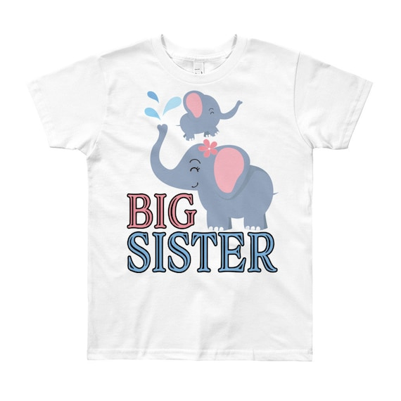 Elephant big sister shirt, big sister to be, big sister outfit, sister announcement, promoted big sister, sister shirts, promoted to big sis