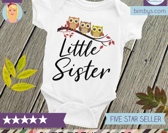 Little sister owl Bodysuit , Owl sister shirt, Little sister outfit, Sister outfits, Baby sister outfit, Lil sister, Sister shirts, Sisters