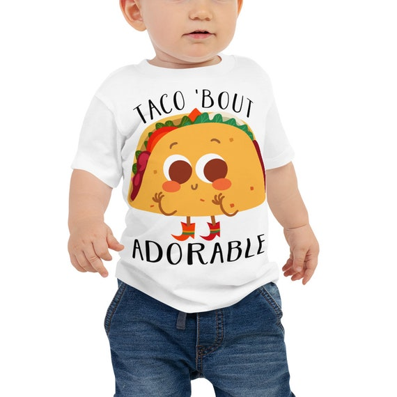 SALE Baby Shower Gift, Baby Shirt, Baby T-Shirt ,Taco Bout Adorable Baby Jersey Short Sleeve Tee Toddler Tshirt | Infant & Baby Clothing