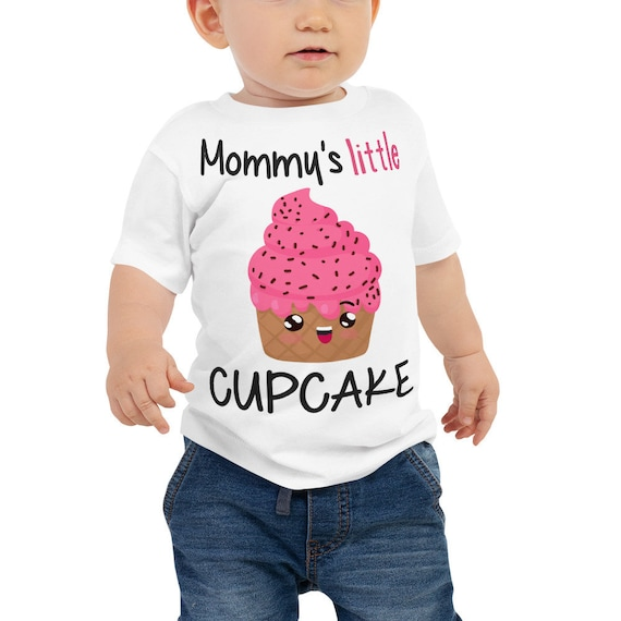 SALE Mommy's Little Cupcake Baby Jersey Short Sleeve Tee, Baby Girl Outfit, Unique Baby Gift, Baby Girl Clothes