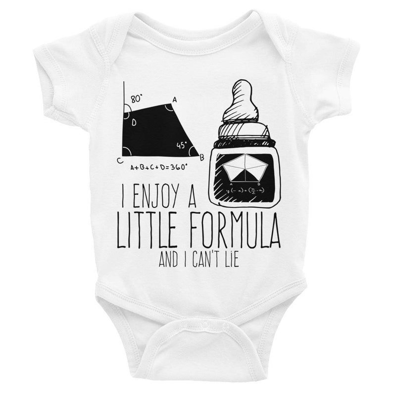 0117634dd Funny Baby Romper Infant Bodysuit I Enjoy A Little Formula