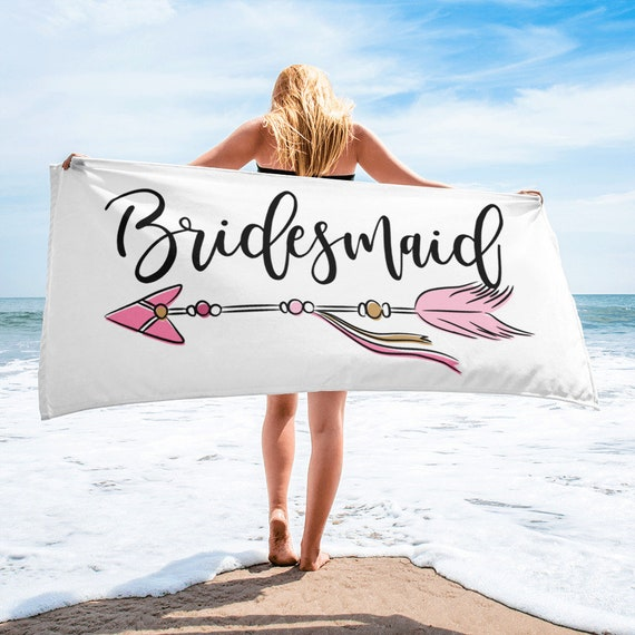 Beach Bridal Shower - Bride Beach Towel - Beach Bachelorette - Bride Beach Towel - Honeymoon Beach Towel - Honeymoon Gift - Bride Wedding