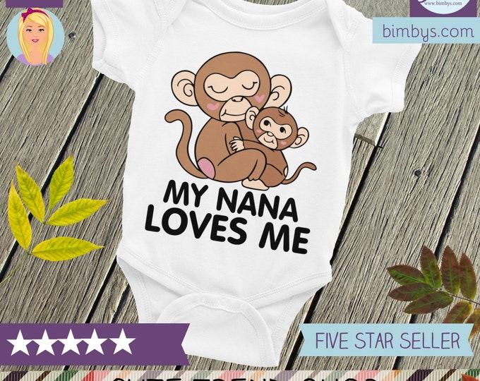 My Nana Loves Me ONSIE,  Nana Bodysuit, I Love My Nana, Nana Nappy, Grandma Loves Me, My Grandma Loves Me, Call Me Grandma, Nana Onsie