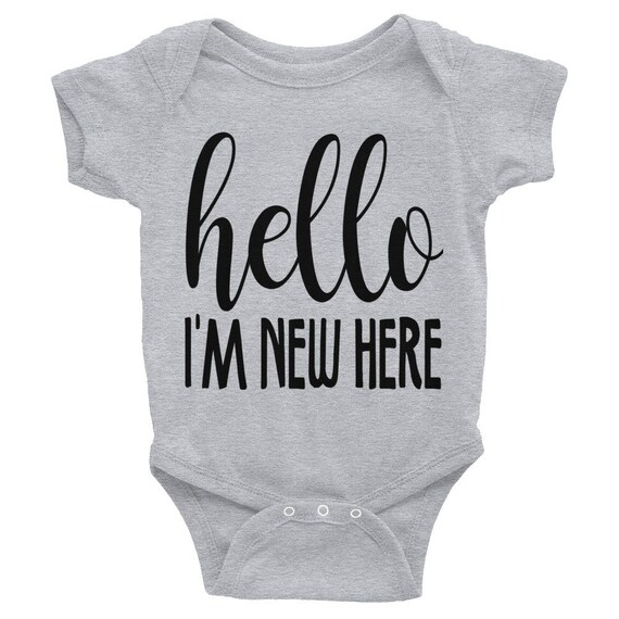 Hello World Baby Bodysuit, Take Home Outfit, Newborn Prop, hello world Bodysuit, newborn bodysuit, hello shirt, cute bodysuits, hello baby