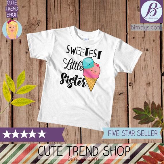 SALELittle sister kids t-shirt , Kawaii Food Little Sister T-Shirt, Little Sister Tee, Siblings Shirt, little sister outfit, little sis