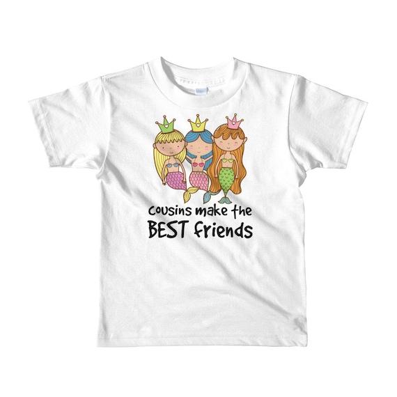 Mermaids - Cousins makes the Best Friends Short sleeve kids t-shirt