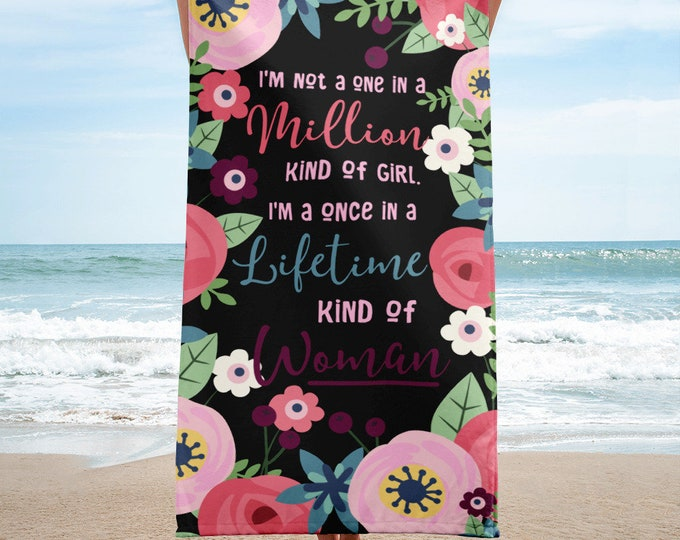 Women's Beach Towel, Beach Towels, Gift for Women, Floral Beach Towels, Cute Beach Towels, Beach Towels for Her, Bath Towels