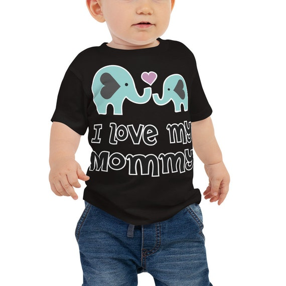 SALE I Love My Mommy Shirt, I Love Mommy Baby Toddler Tee, I Love Mom Shirts