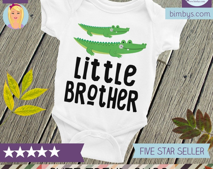 Little Brother Nappy, Alligator Sibling Shirt, Little Brother Shirt, Brother Shirts, Little Bro, Baby Brother, Brother Shirt, Brothers