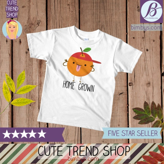 SALEFunny kid shirts, Cute Orange Kawaii Kids T-Shirt, toddler t-shirt, funny girls shirt, funny boy shirt, boho kids shirt, kids t-shirts