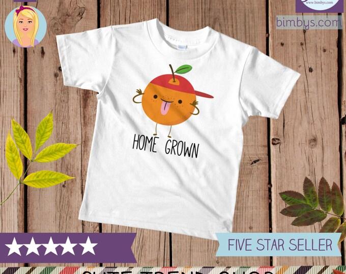 Funny kid shirts, Cute Orange Kawaii Kids T-Shirt, toddler t-shirt, funny girls shirt, funny boy shirt, boho kids shirt, kids t-shirts