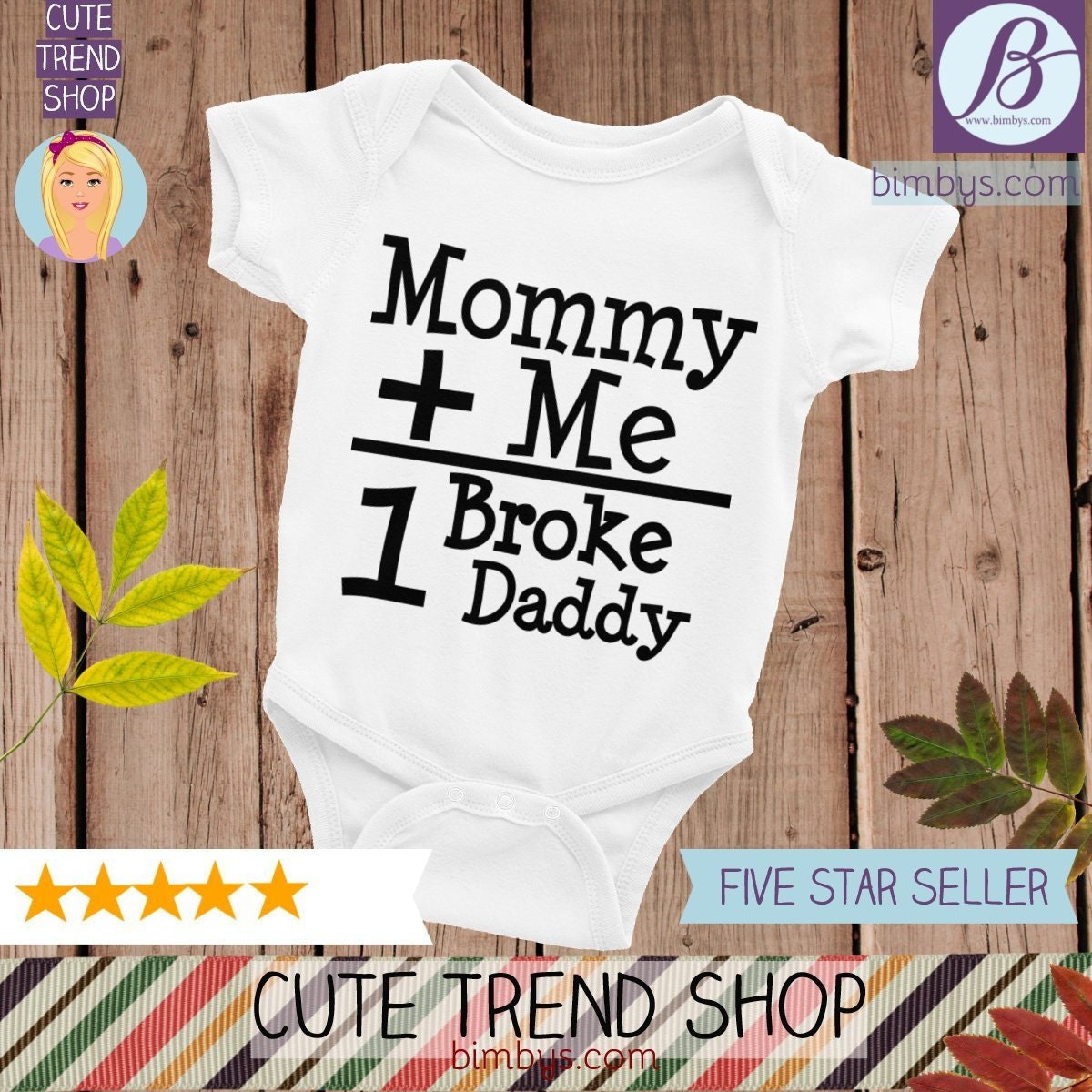 dbd9ec74b Mummy & Me Equals One Broke Daddy Infant Bodysuit, Funny Baby Creeper  Design, mommy and me, mommy and me outfit, mommy and me shirts, mommy
