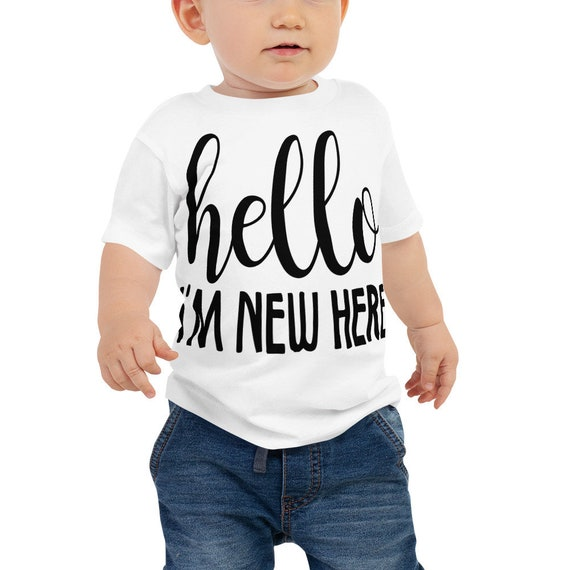 SALE Hello I'm New Here Newborn Take Home Outfit, Baby Jersey Short Sleeve Tee, Hello World Outfit, , Newborn Baby Outfit, baby shower gift