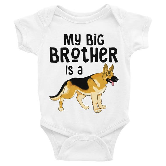 SALE!Brother Nappy My Big Brother is a German Shepherd Infant Bodysuit Onsie | Big Brother Nappy | Cute baby Bodysuits | Sibling Shirt Onsie