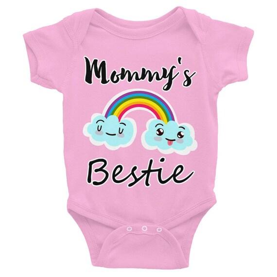 Mommy's Bestie Infant Bodysuit | Cute  Baby outfit | Adorable Baby Gifts, baby girl bodysuit, Infant Romper, baby bodysuit Cute baby clothes